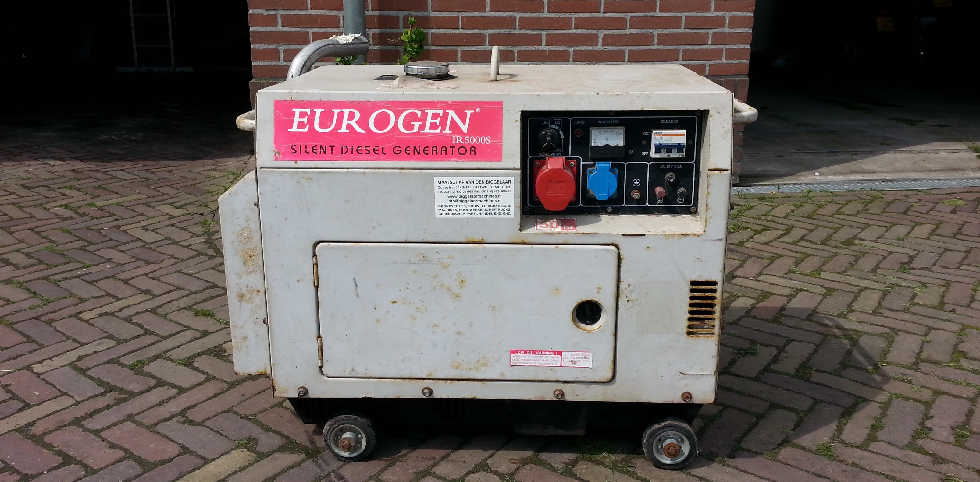 Aggregaat huren in Noord-Holland bij Cok Snoek